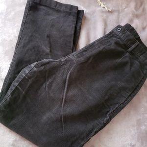 Lands End dark charcoal corduroy pants. Size 14